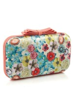 Floral And Gem Printed Clutch, Accessorize, 3,450 INR