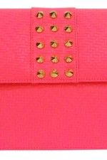 Neon Pink Studded Sling, 2,100 INR