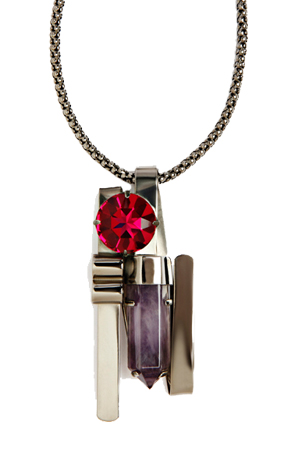 Mawi Amythest Shard Crystal Pendant Necklace, Was 44,450 INR- Now 26,670 INR