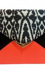 Orange Ikat Clutch, 2,100 INR